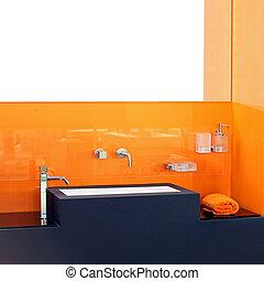 sinaasappel, badkamer