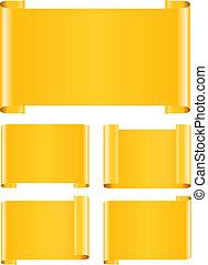 sinaasappel, banieren, papier