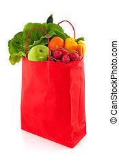sinaasappel, buil, met, gezond voedsel