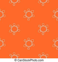 sinaasappel, charme, vector, armband, model