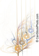sinaasappel, en blauw, abstract, ontwerpen