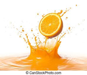 sinaasappel, gespetter