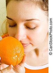 sinaasappel, geur