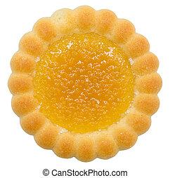 sinaasappel, gevulde, biscuit