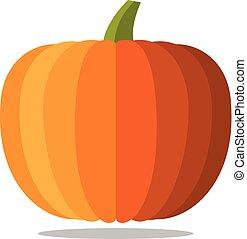 sinaasappel, halloween, white., pompoen