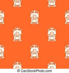 sinaasappel, model, trein, vector