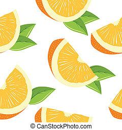 sinaasappel, model, witte , seamless, schijfen