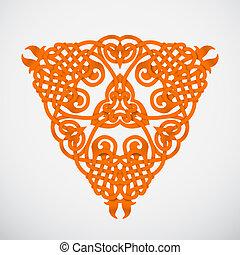 sinaasappel, ornament, inlander