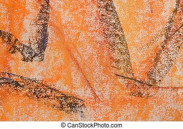 sinaasappel, pastel, grunge, background:, reeks