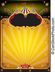 sinaasappel, poster, circus, magisch