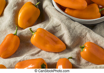 sinaasappel, rauwe, zoet, organisch, pepers