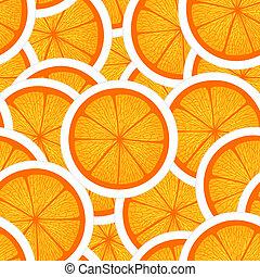 sinaasappel, seamless, achtergrond