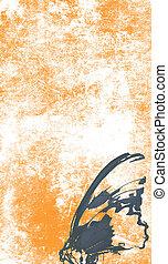 sinaasappel, tatoeëren, papier
