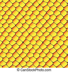 sinaasappel, textuur, honingraten, seamless, gele