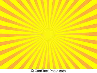 sinaasappel, vector, zonnestraal, achtergrond