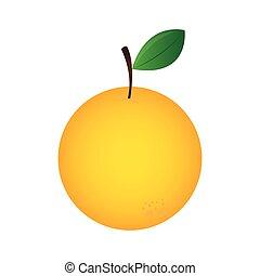 sinaasappel, vers fruit, pictogram