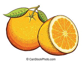 sinaasappel, vruchten