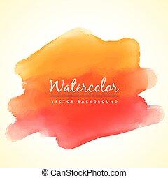 sinaasappel, watercolor verf