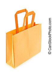 sinaasappel, winkel, zak van, origami