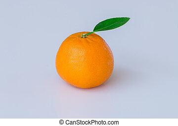 sinaasappel, witte , fruit, vrijstaand, achtergrond