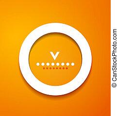sinaasappel, witte , papier, cirkel, achtergrond