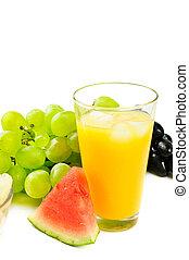 sinaasappelsap, vruchten