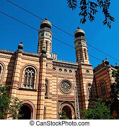 sinagoga, em, budapest, hungria