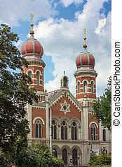 sinagoga, grande, plzen