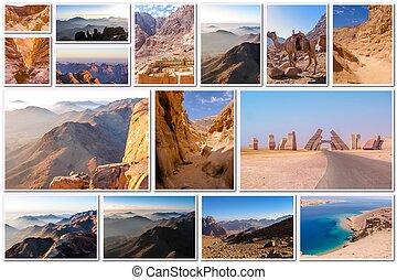 Sinai Peninsula landmark collage