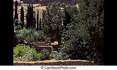 Sinai Saint Catherine Monastery walls - panorama of Saint...