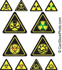 sinais, de, perigo