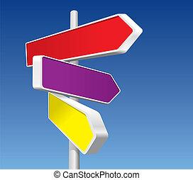 sinais direcionais, (vector)