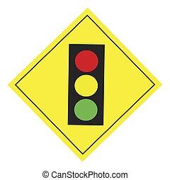 sinais estrada, semáforo