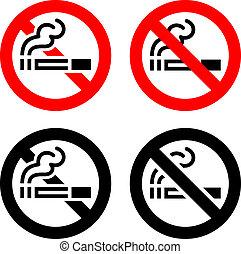 sinais, fumar, jogo, -, não