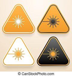 sinais, jogo, triangular, perigo