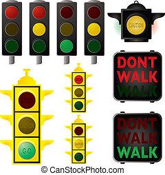 sinais, tráfego