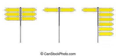sinais tráfego, sobre, fundo branco