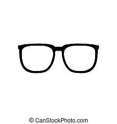 sinal, óculos, ícone
