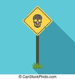 sinal, único, ícone, em, apartamento, style.sign, vetorial, símbolo, ilustração acionária, web.