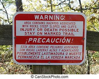 sinal aviso