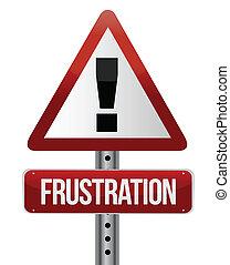 sinal aviso, com, um, frustração, conceito
