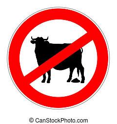 sinal, bullshit, proibição, não