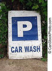 sinal, carwash