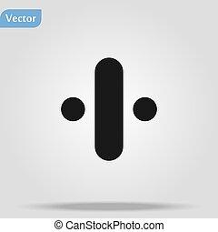 sinal, cego, educação, logotipo, língua, projete elemento, símbolo., icon.