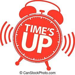sinal, cima, ilustração, time's, vetorial, vermelho