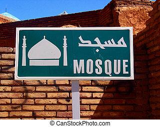 sinal, de, mesquita