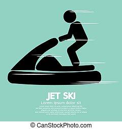 sinal., desporto, esqui, jato