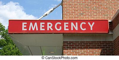 sinal emergência