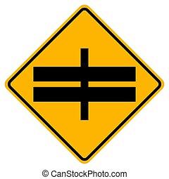 sinal, eps.10, à frente, símbolo, estrada, ilustração, tráfego, isole, rodovia, vetorial, fundo, interseção, branca