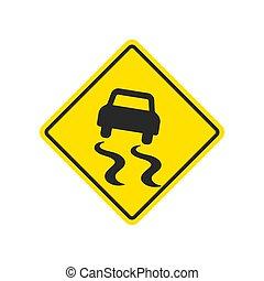 sinal escorregadio estrada